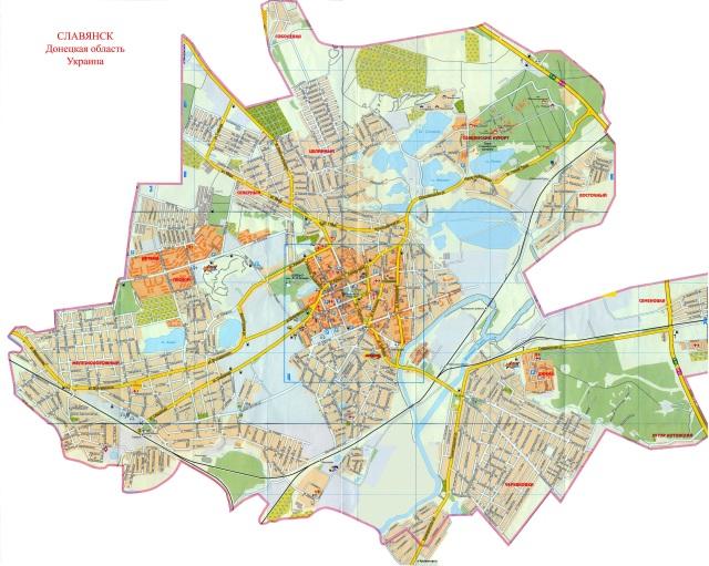 Slavyansk-map