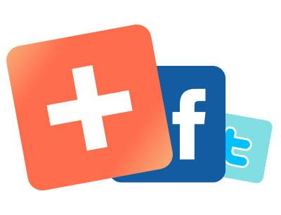 Нажми и выбери свою социальную сеть